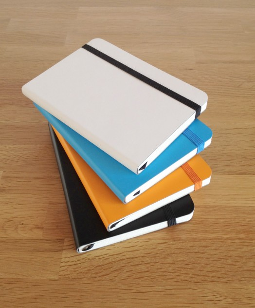 Brunnen recycled leather notebooks