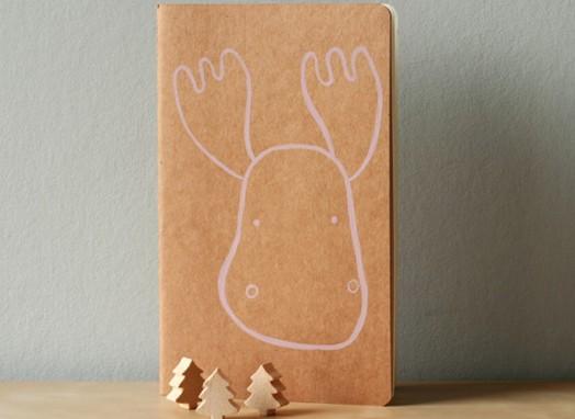 Customised Notebooks - Moleskine xmas reindeer