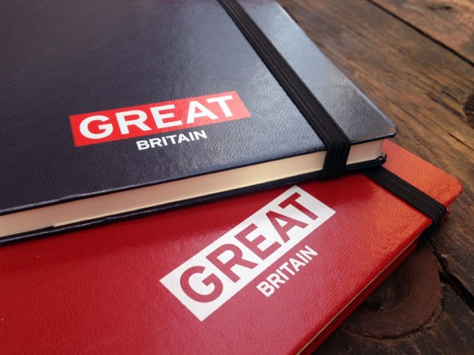 Great-Britain screen printed notebooks