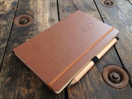 Debossed castelli notebook