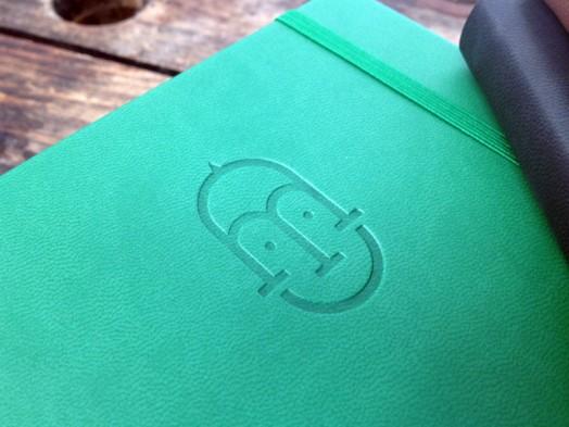 Mikos green debossed castelli book
