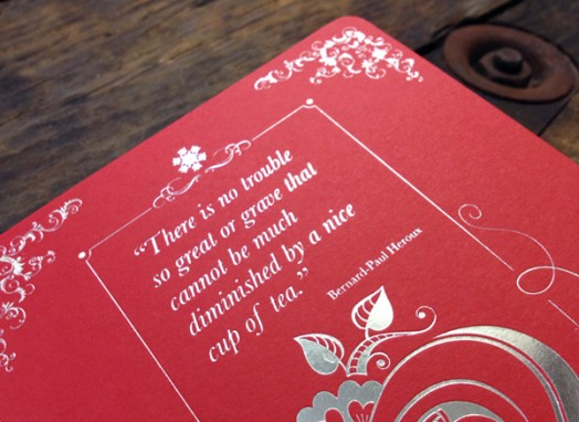 red foiled inserted page