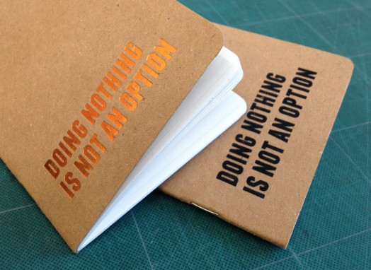 rounded corners on kraft notebooks