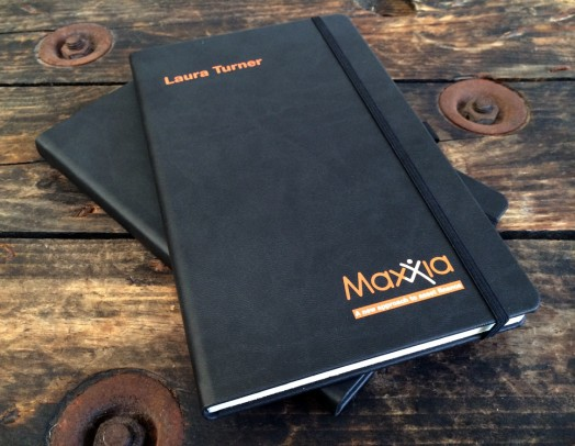 Maxxia personalised notebooks