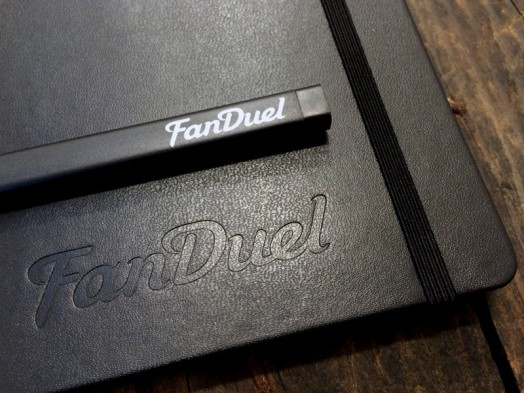 Fanduel Moleskine Pen and Moleskine notebook