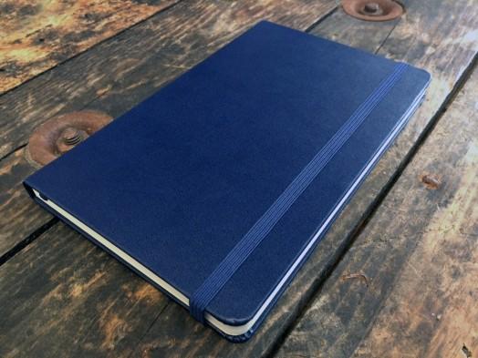 Navy Moleskine notebook