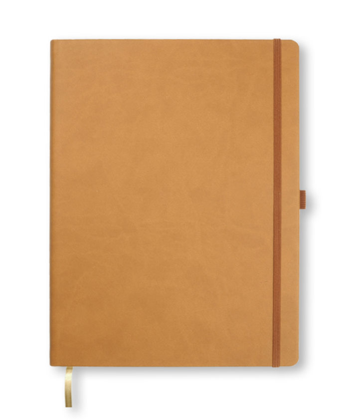 A4 Brown Castelli Tucson hardcover notebook