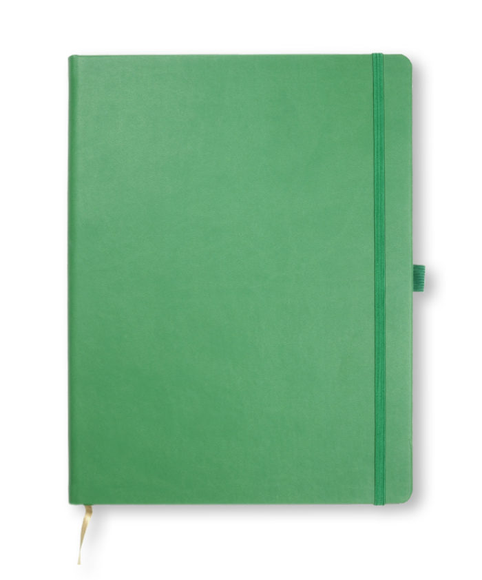 A4 Forest Green Castelli Tucson hardback notebook