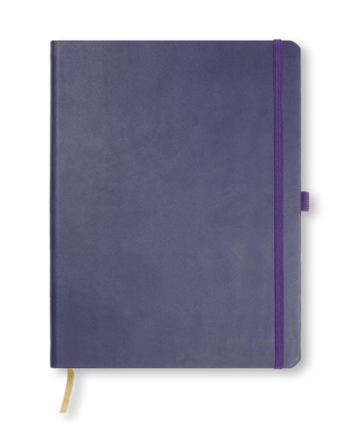 A4 Indigo Blue Castelli Tucson hardcover notebook