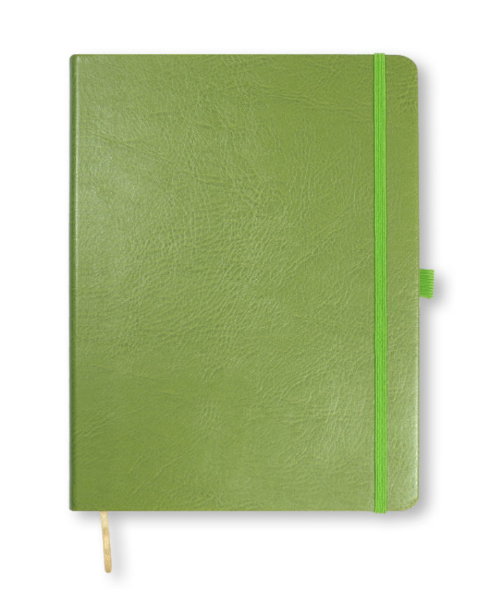 A4 Lime Green Castelli Sherwood notebook