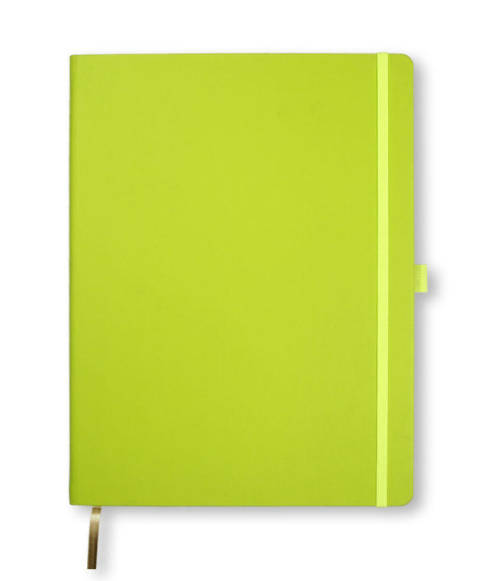 A4 Neon Green Castelli Tucson hardcover notebook