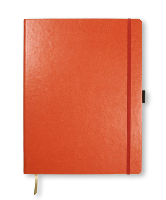 A4 Orange Castelli Sherwood notebook