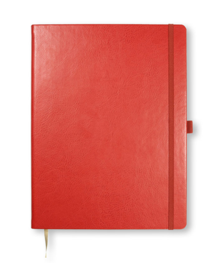 A4 Red Castelli Sherwood notebook