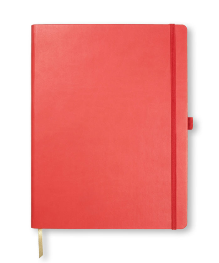 A4 Red Castelli Tucson hardback notebook