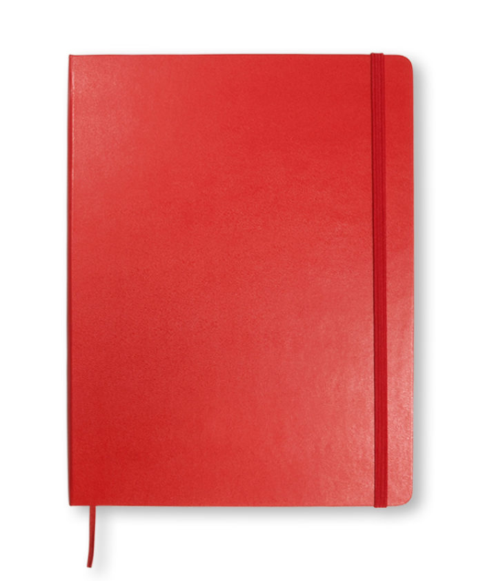 XL Scarlet Red Moleskine classic hardback notebook
