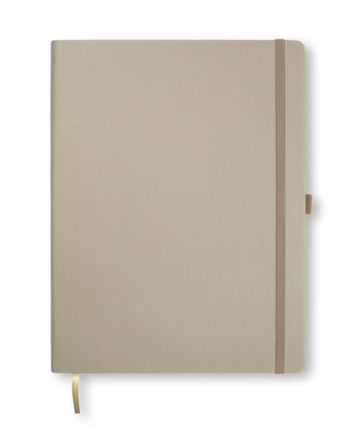 A4 Taupe Castelli Tucson hardcover notebook