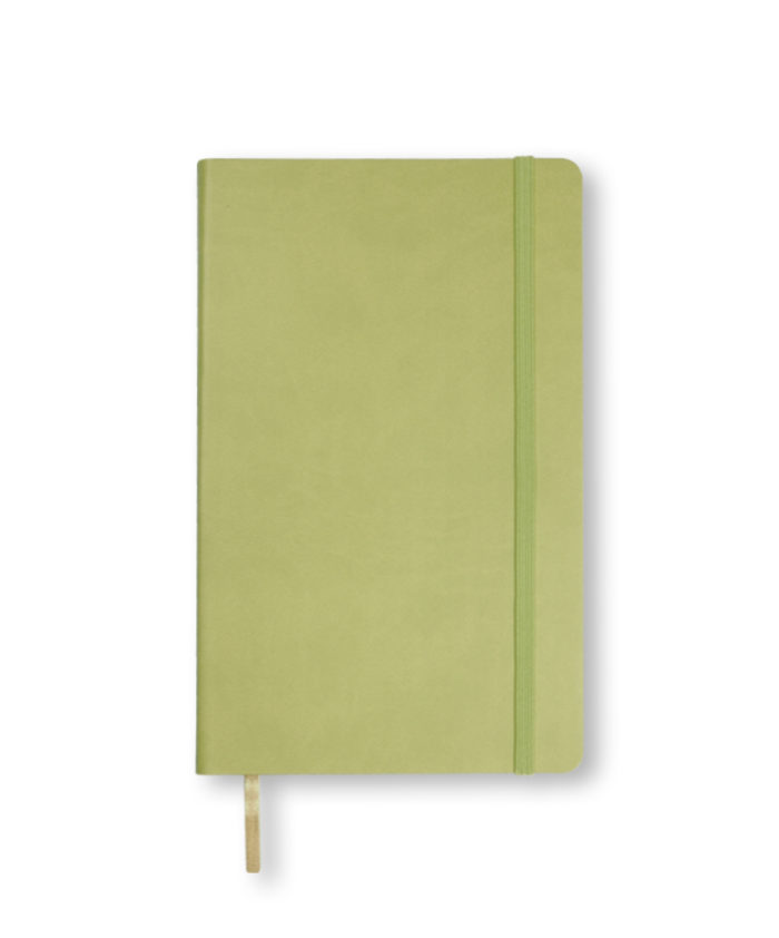 A5 Bright Green Castelli Flexi notebook