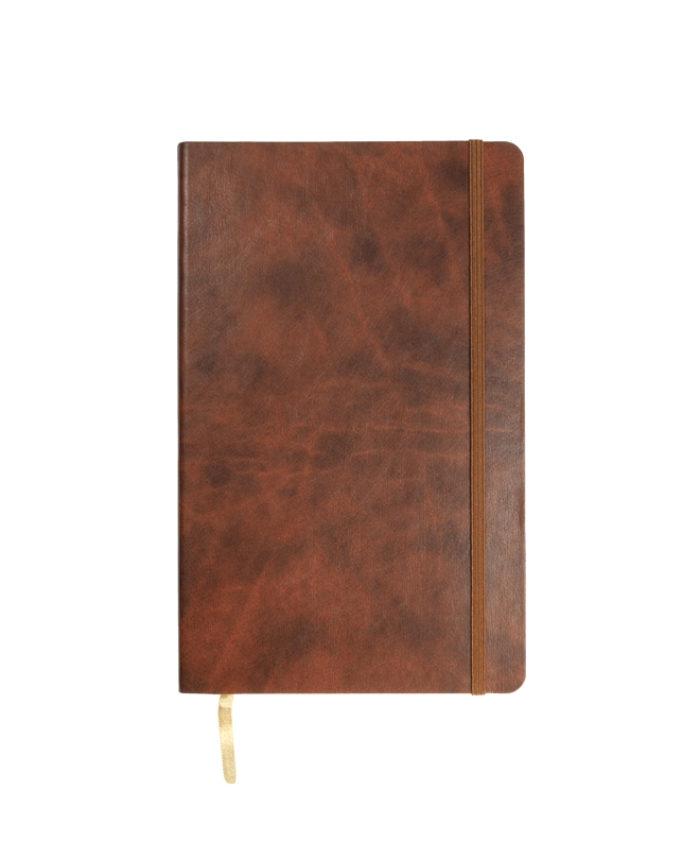 A5 Chestnut Castelli Novara flexi cover notebook