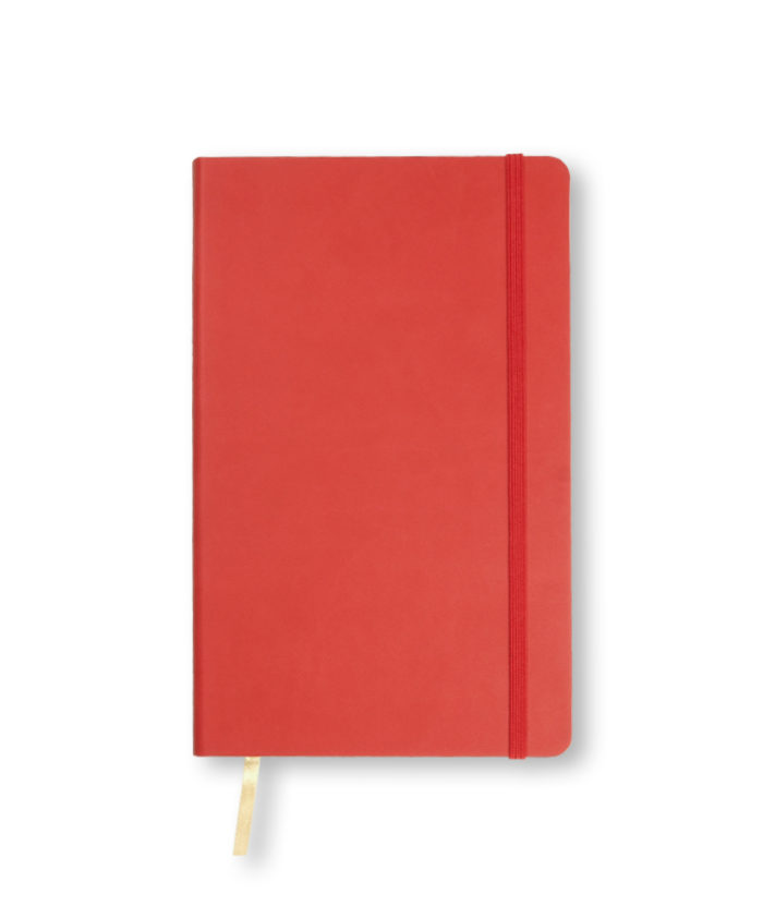 A5 Coral Red Castelli Flexi notebook