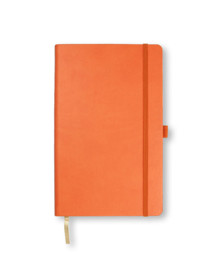A5 Orange Castelli Tucson hardback notebook