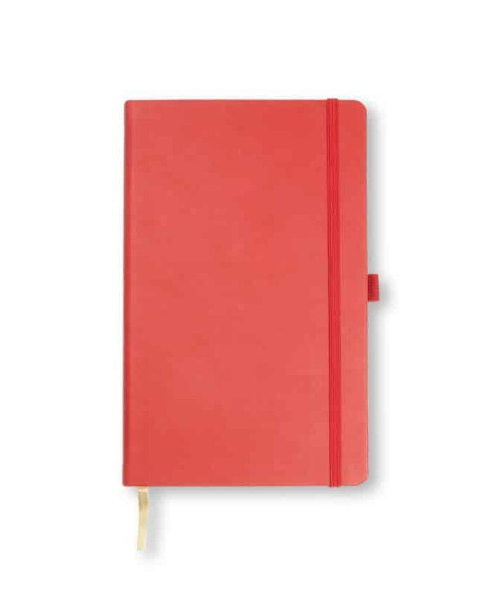 A5 Coral Red Castelli Tucson hardback notebook
