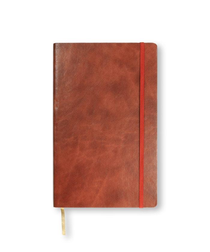A5 Rust Castelli Novara flexi cover notebook