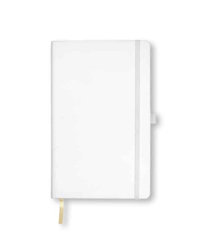 A5 White Castelli Tucson hardback notebook