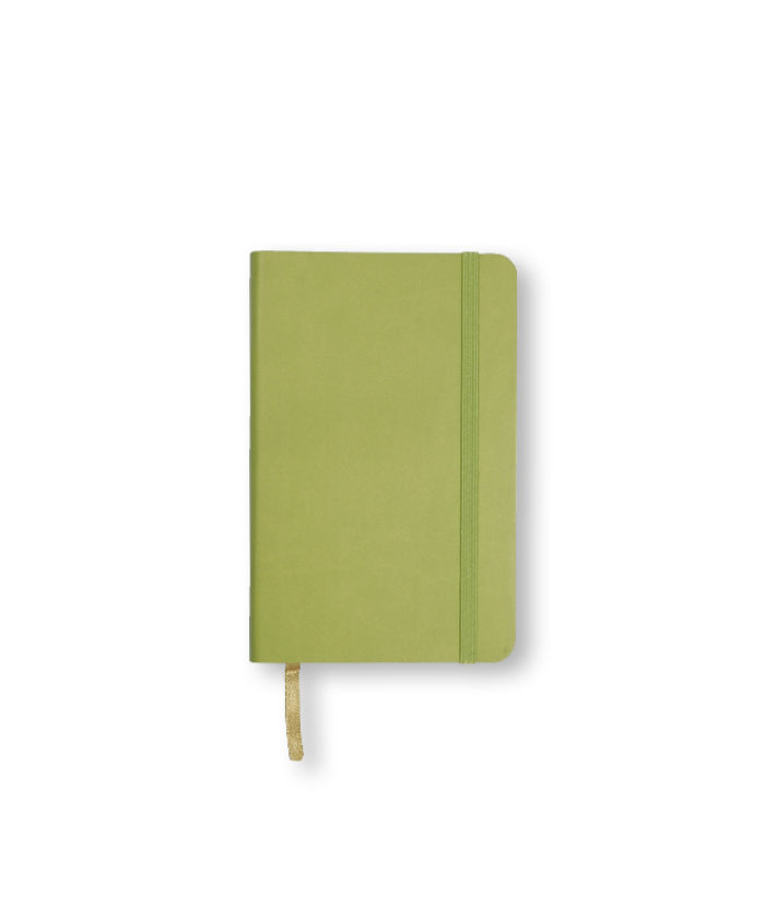 A6 Bright Green Castelli Pocket Tucson flexicover notebook