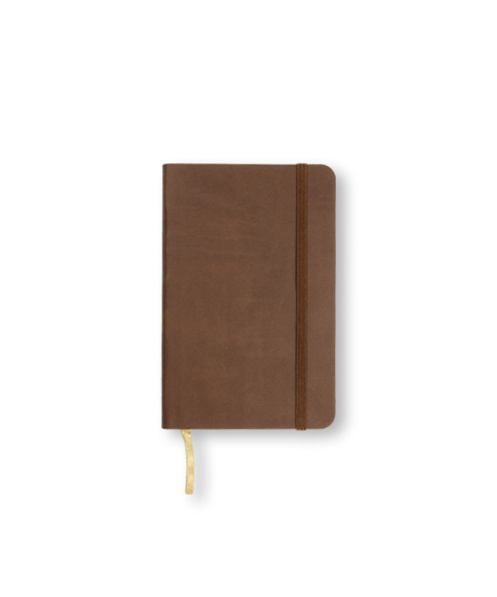 A6 Brown Castelli Pocket Tucson flexicover notebook