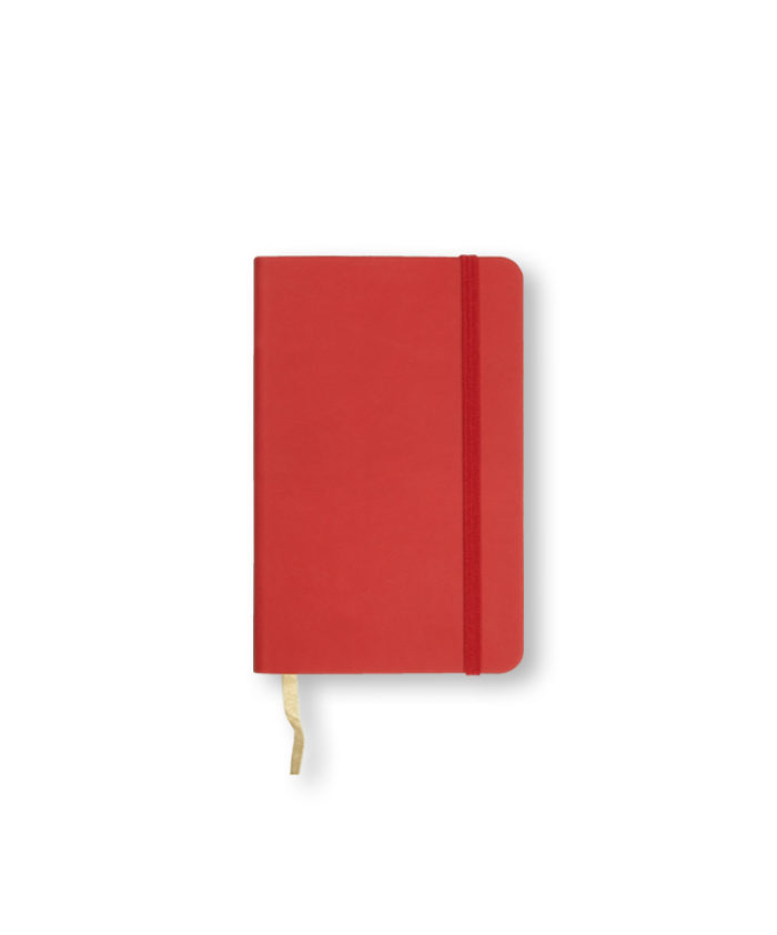 A6 Coral Red Castelli Pocket Tucson flexicover notebook