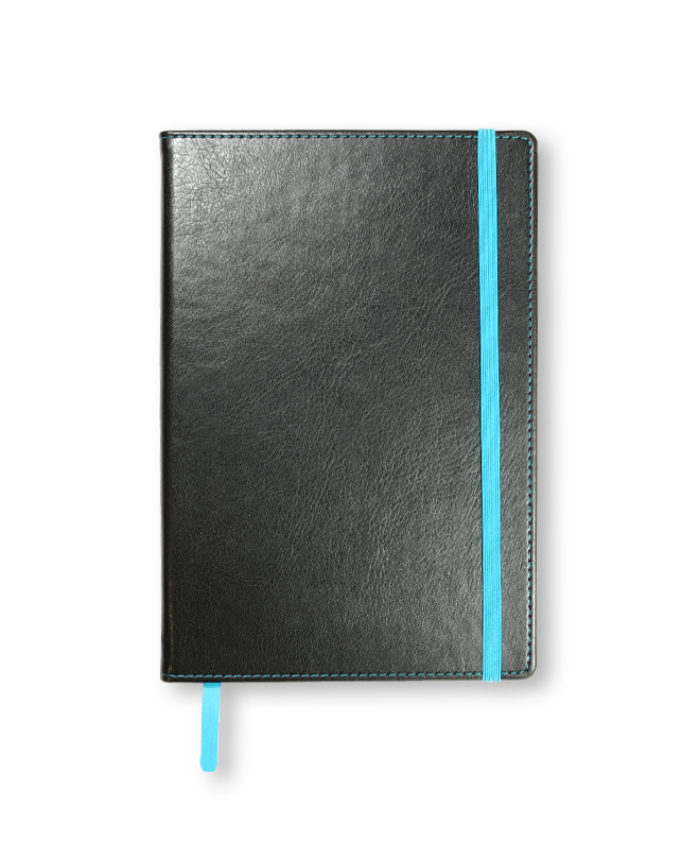 A5 Blue Match Stitched Notebook