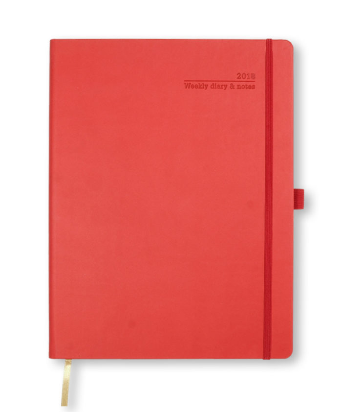 A4 Castelli Coral Red Weekly Diary