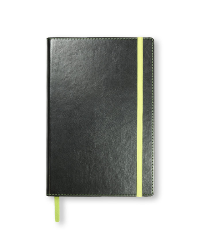 A5 Green Match Stitched Notebook