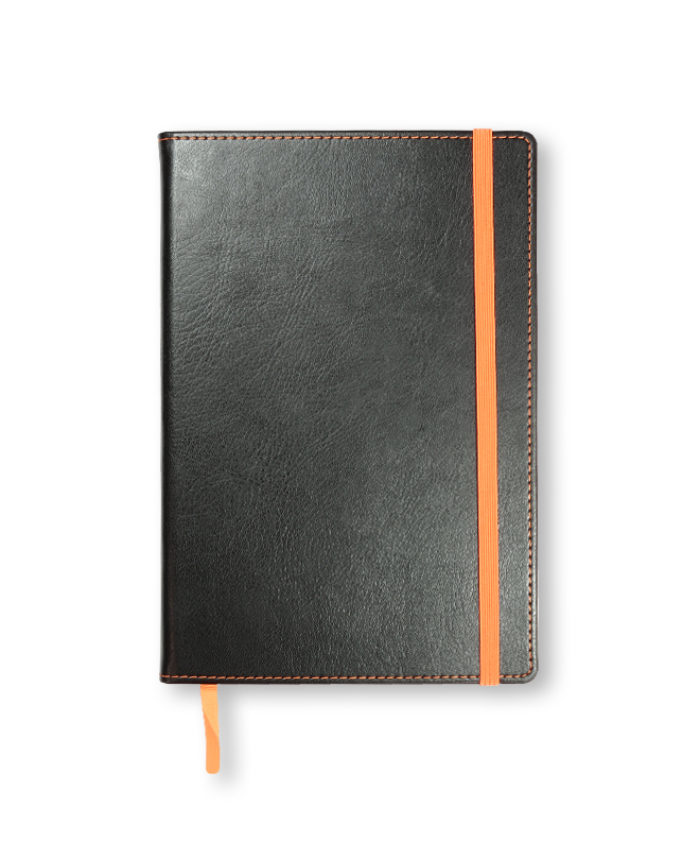 A5 Orange Match Stitched Notebook
