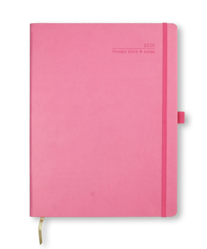 A4 Castelli Pink Weekly Diary