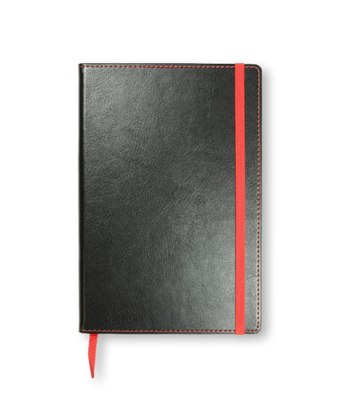 A5 Red Match Stitched Notebook