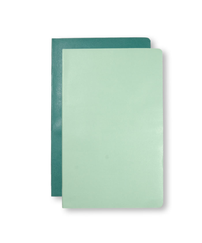 A5 Sage and Seaweed Green Moleskine Pocket Volant