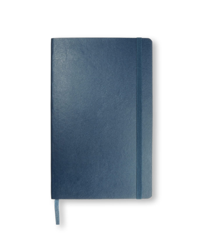 A5 Sapphire Blue Moleskine soft cover notebook