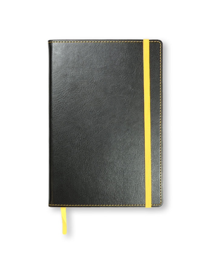 A5 Yellow Match Stitched Notebook