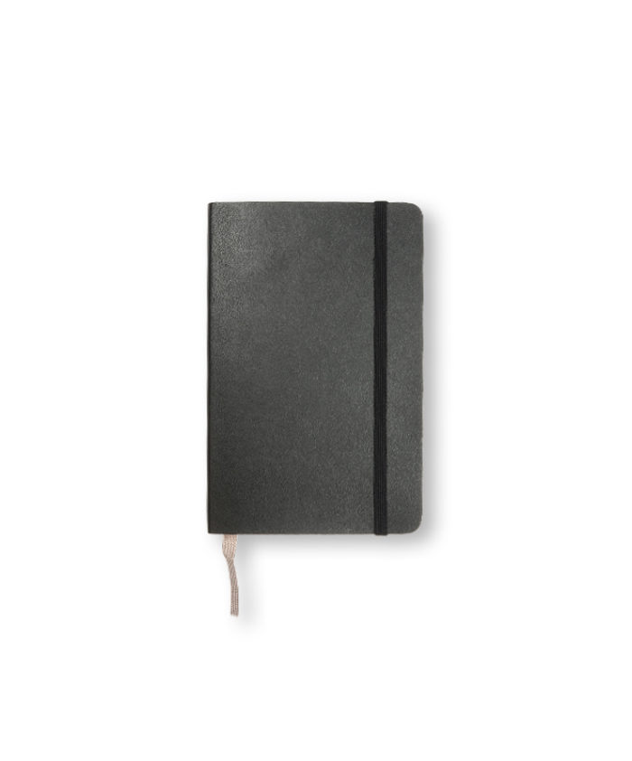A6 Black Moleskine softcover notebook