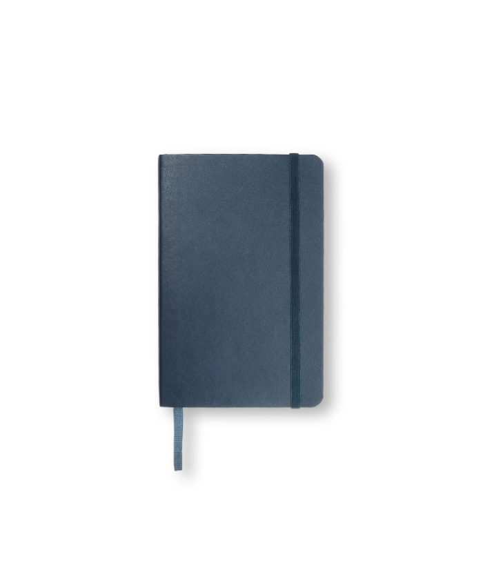 A6 Sapphire Blue Moleskine softcover notebook