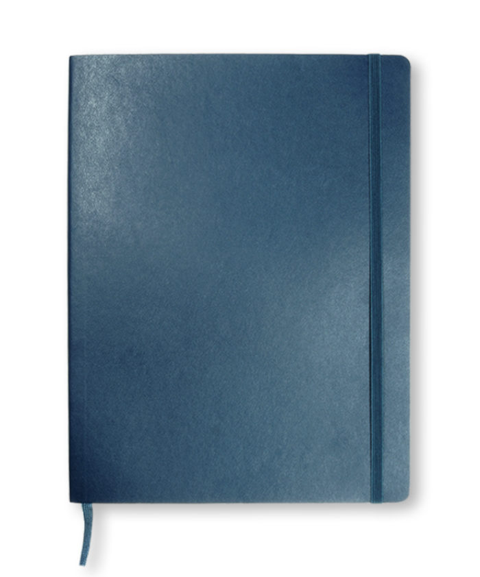 A4 Sapphire Blue classic softcover Moleskine notebook