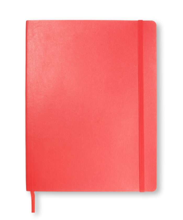 A4 Scarlet Red classic softcover Moleskine notebook
