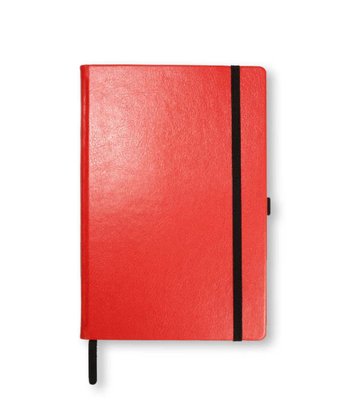 A5 Bright Red Swatch custom coloured notebook