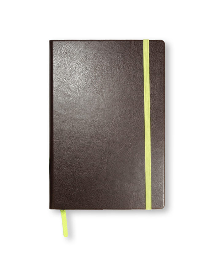 A5 Chocolate Swatch custom coloured notebook