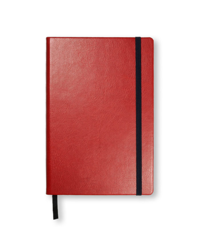 A5 Deep Red Swatch custom coloured notebook