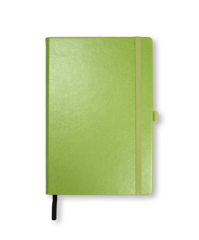 A5 Lime Green Swatch custom coloured notebook