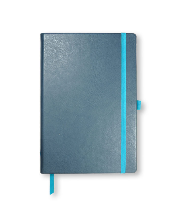A5 Mid Blue Swatch custom coloured notebook