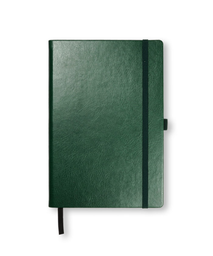 A5 Mid Green Swatch custom coloured notebook