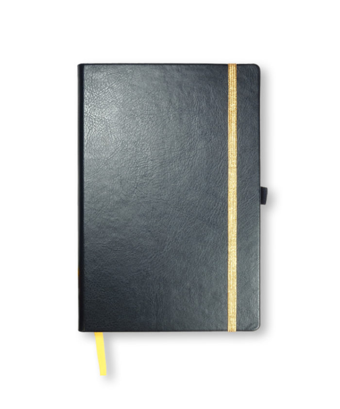 A5 Navy Blue Swatch custom coloured notebook